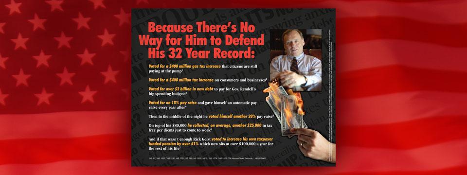 Citizens Alliance of Pennsylvania PAC Rick Geist Record Newspaper Insert