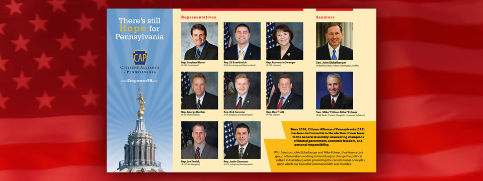 Citizens Alliance of Pennsylvania PAC Hope for Pennsylvania Brochure