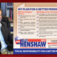 Kelly Henshaw Plan for a Better Pennsylvania Postcard