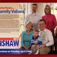 Kelly Henshaw Family Values Postcard