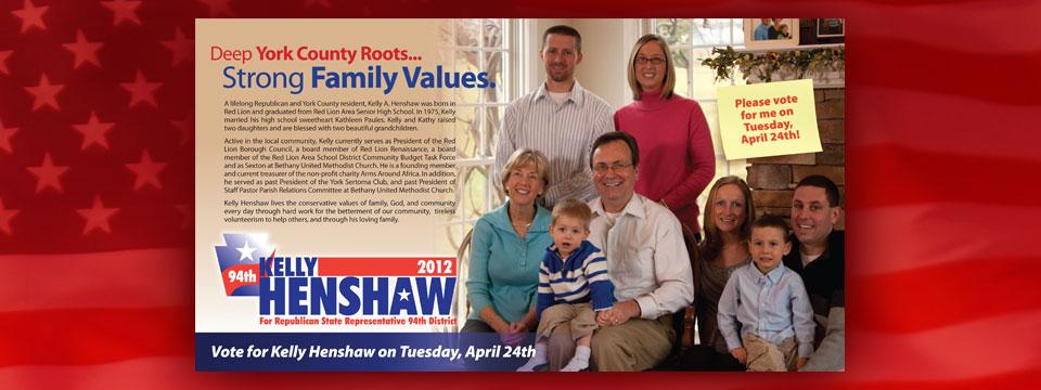 Kelly Henshaw Family Values Postcard