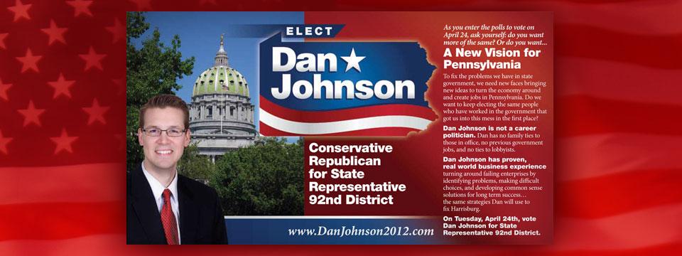 Dan Johnson New Vision for Pennsylvania Postcard