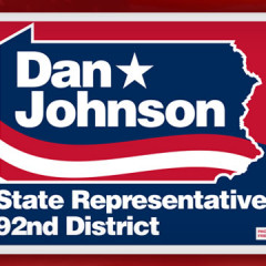 Dan Johnson Yard Sign