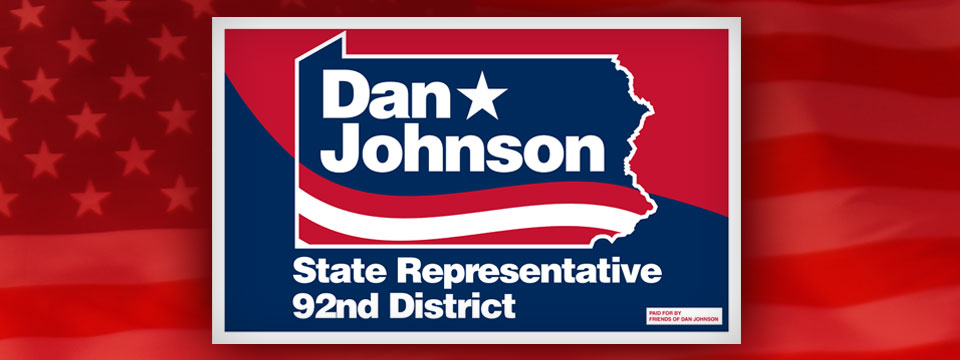 Dan Johnson Yard Sign
