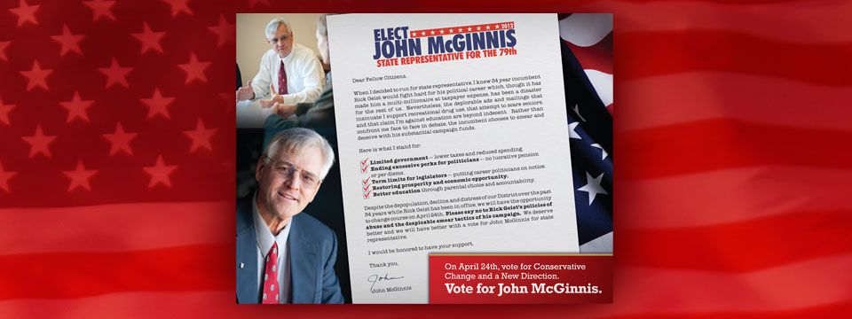 John McGinnis Special Message Postcard