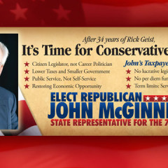 John McGinnis Conservative Change Palm Card