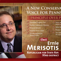 Ernie Merisotis New Conservative Voice Postcard