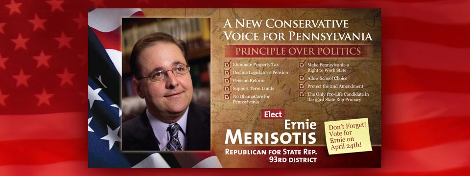 Ernie Merisotis New Conservative Voice Postcard