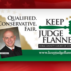 Keep Judge Flannelly Billboard Truck