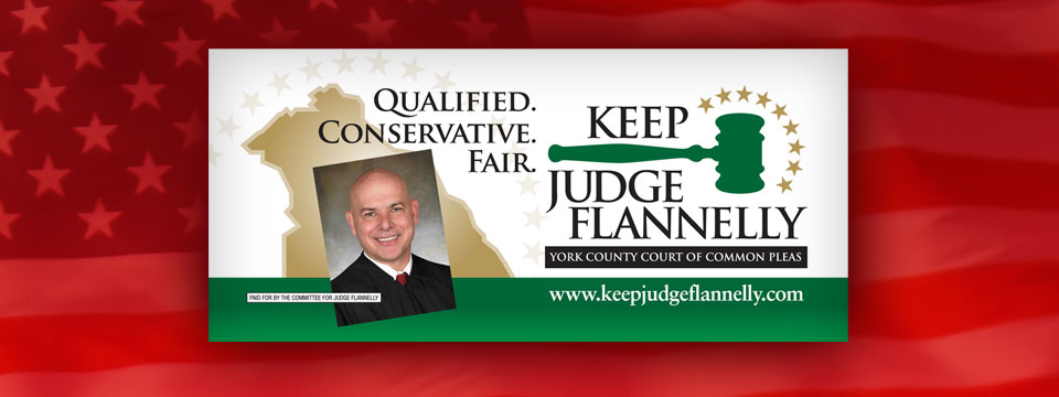 Keep Judge Flannelly Billboard Truck