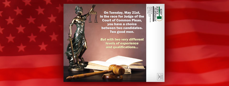 Keep Judge Flannelly Candidate Comparison Mailer