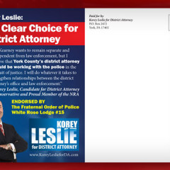Korey Leslie for District Attorney Postcard