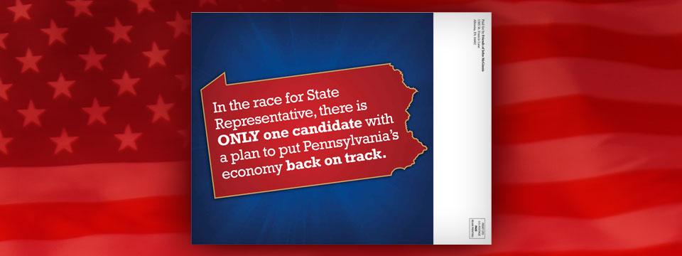 "John McGinnis for State Representative ""On Track"" Mailer"