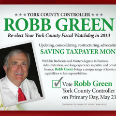 Robb Green York County Controller Postcard