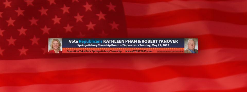 Phan/Yanover Springettsbury Township Supervisors Newspaper Banner Ad