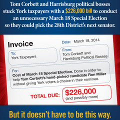 Scott Wagner Write-In Invoice Mailer