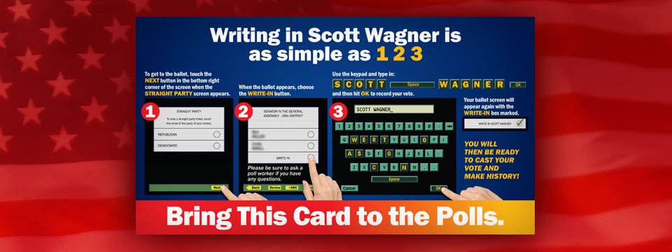 "Write-In Scott Wagner ""How To"" Mailer"