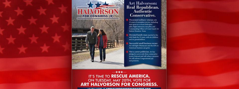 Art Halvorson Authentic Conservative Mailer