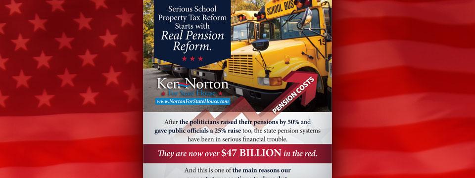 """CAP Ken Norton """"School Tax"""" Mailer"""