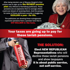 "CAP Mauree Gingrich ""Pension Crisis"" Mailer"