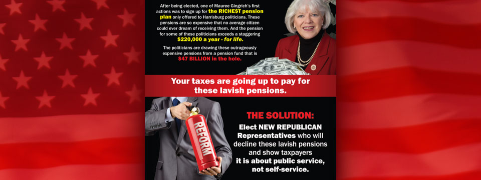 "CAP Mauree Gingrich ""Pension Crisis"" Mailer"