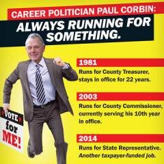 "CAP ""Paul Corbin Is Always Running"" Mailer"