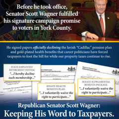 "Senator Scott Wagner ""Keeping His Word"" Mailer"