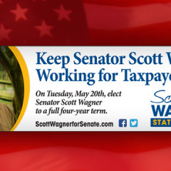 """Keep Senator Scott Wagner"" Newspaper Banner Ad"