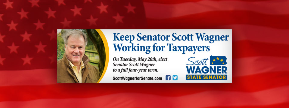 """Keep Senator Scott Wagner"" Newspaper Banner Ad"