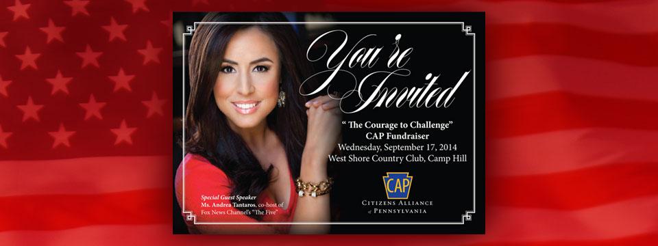 CAP September 2014 Fundraiser Invitation | Political Graphics USA