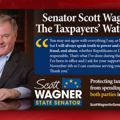 Scott Wagner for Senate Taxpayers Watchdog Postcard