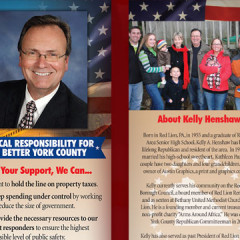 Kelly Henshaw for County Commissioner Palm Card