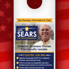 Sears for State Rep Door Hanger