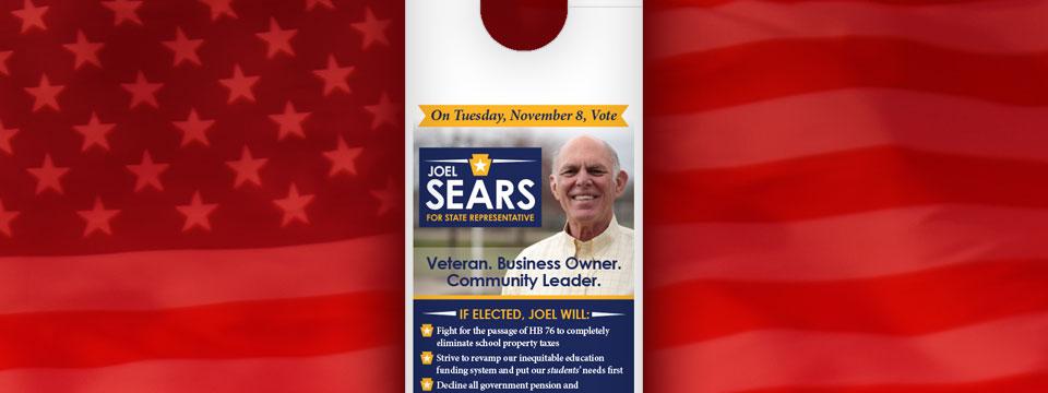 Sears for State Rep Door Hanger