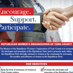 Republican Women's Organization of York County Handout Card
